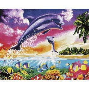 Танец дельфинов Алмазная мозаика вышивка Painting Diamond