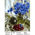Количество цветов и сложность Василек и можевельник Раскраска картина по номерам акриловыми красками на холсте