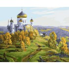 Храм на холме Раскраска картина по номерам акриловыми красками на холсте
