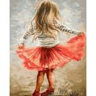 Маленькая танцовщица Раскраска картина по номерам акриловыми красками на холсте