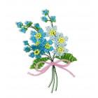Цветы Незабудки Набор для бисероплетения Риолис