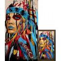 Женщина-вождь Алмазная вышивка мозаика Гранни