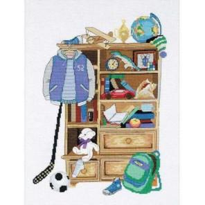 Шкафчик для мальчика Набор для вышивания Риолис