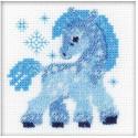 Ледяная лошадка Набор для вышивания Риолис