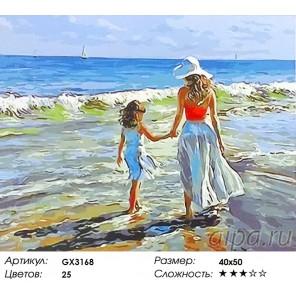 Мама с дочкой Раскраска картина по номерам на холсте