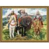 Три Богатыря Виктора Васнецова Набор для вышивания Золотое Руно в рамке