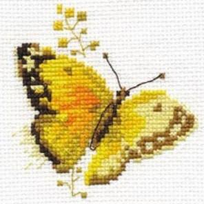 Яркие бабочки. Желтая Набор для вышивания Алиса