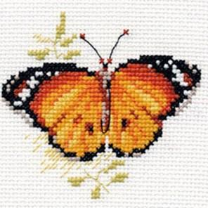 Яркие бабочки. Оранжевая Набор для вышивания Алиса