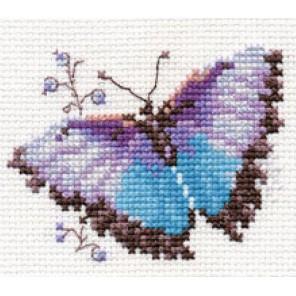 Яркие бабочки. Голубая Набор для вышивания Алиса