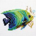 Тропические рыбки. Изумрудная Набор для вышивания Алиса