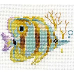 Тропические рыбки. Полосатая Набор для вышивания Алиса