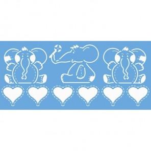 Слоники Трафарет 15х33 см Marabu