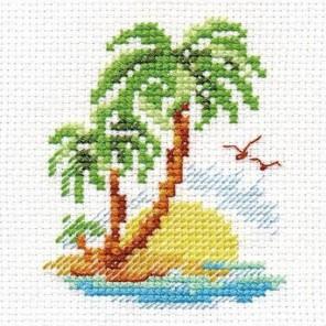 Пальмовый островок Набор для вышивания Алиса