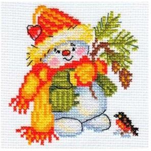 Снеговик Набор для вышивания Алиса