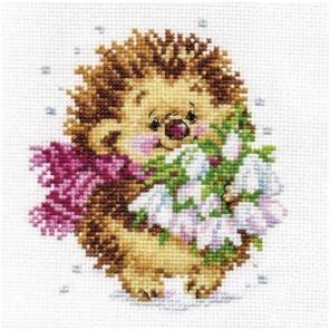 Весенний ежик Набор для вышивания Алиса