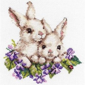Крольчата Набор для вышивания Алиса
