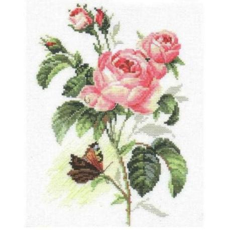 Роза и бабочка Набор для вышивания Алиса