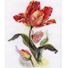 Тюльпан и бабочка Набор для вышивания Алиса
