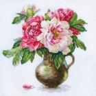 Цветущий сад: Пионы Набор для вышивания Алиса