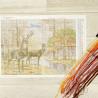 Схема и мулине Олени в осеннем лесу Набор для вышивания Алиса