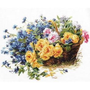 Розы и васильки Набор для вышивания Алиса