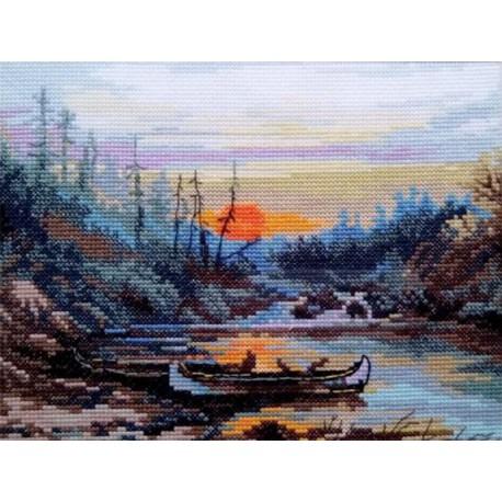 У таежной реки Набор для вышивания Алиса