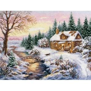 Зима. К вечеру Набор для вышивания Алиса