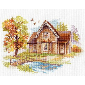 Сентябрьский домик Набор для вышивания Алиса