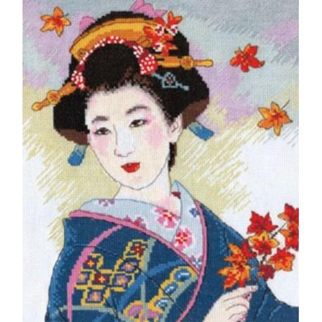Созерцание листопада Набор для вышивания Алиса