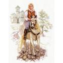 Юноша на белом коне Набор для вышивания Алиса