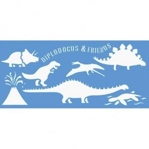 Динозавры Трафарет пластиковый Marabu