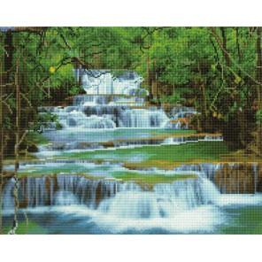 Водопад в лесу Алмазная мозаика вышивка Painting Diamond