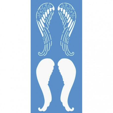 Крылья ангела Трафарет 15х33 см Marabu