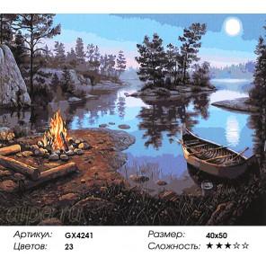 Лунная дорожка Раскраска картина по номерам на холсте