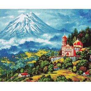 Пейзаж с вулканом Алмазная мозаика вышивка Painting Diamond