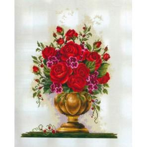 Розы в вазе Алмазная мозаика вышивка Painting Diamond