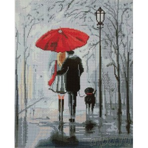 Прогулка под дождем Алмазная мозаика вышивка Painting Diamond