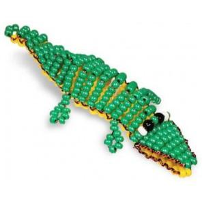 Игрушка Крокодил Набор для бисероплетения Кроше