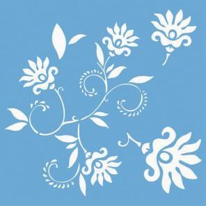 Цветок танцующий Трафарет 33х33 см Marabu