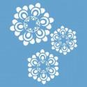 Цветы шестиугольные Трафарет 33х33 см Marabu