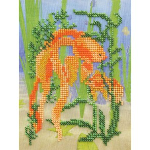 Золотая рыбка Набор для вышивки бисером Кроше