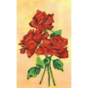 Красное трио Набор для вышивки бисером Кроше