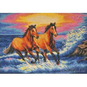 Брызги моря Набор для вышивки бисером Кроше