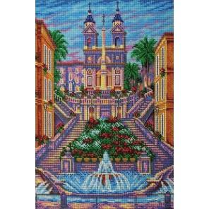 Испанская лестница. Рим Набор для вышивки бисером Кроше