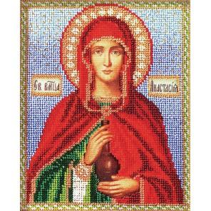 Святая Анастасия Набор для вышивки бисером Кроше