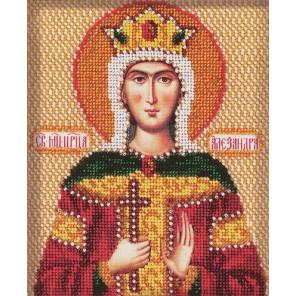 Святая Александра Набор для вышивки бисером Кроше