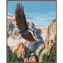 Парящий орёл 91301 Раскраска по номерам Dimensions