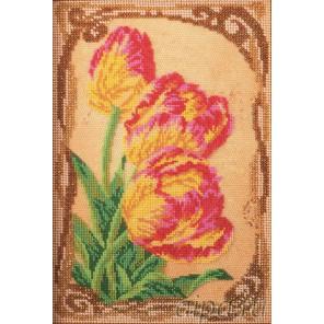 Бархатные тюльпаны Набор для вышивки бисером Кроше