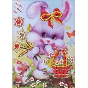 Счастливый зайчик Набор для вышивки бисером Кроше