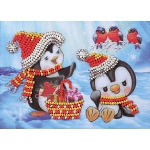 Пингвины Набор для вышивки бисером Кроше